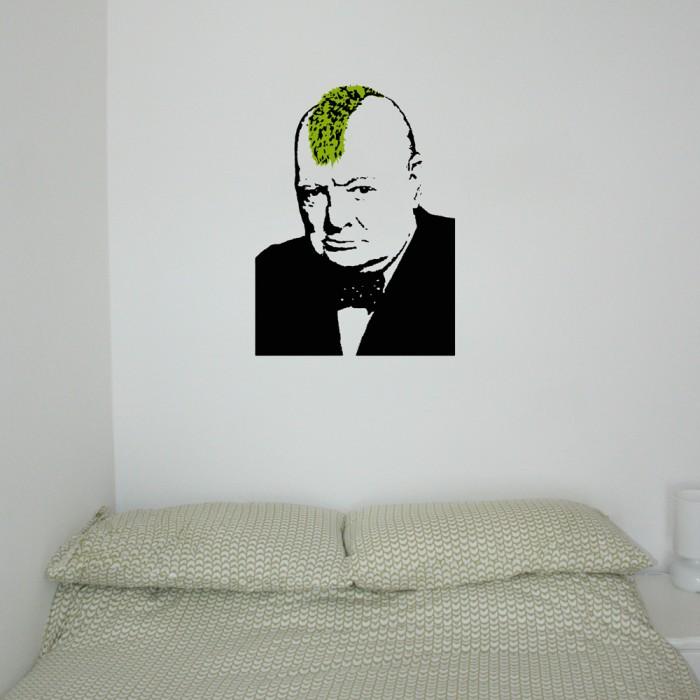 Banksy Churchill Punk Sticker Decal