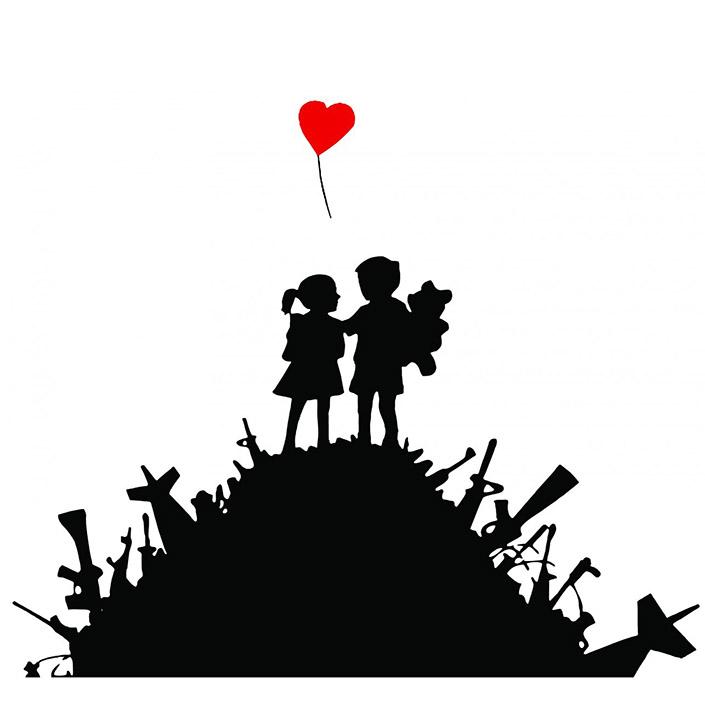 Banksy Kids on Guns Hill Sticker