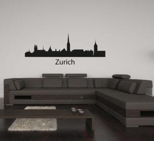 Zurich Silhouette Wall Decal