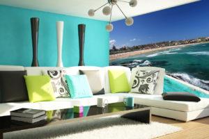 Bondi Beach Icebergs wall mural