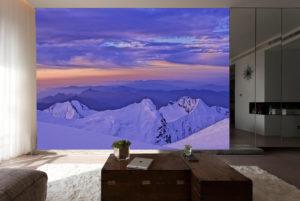 Mountain Ranges wall mural