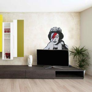 Ziggy Stardust Banksy Wall Decal